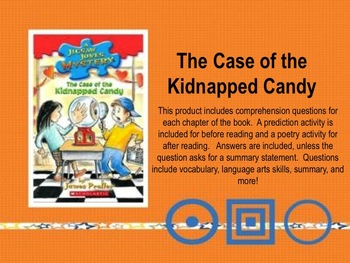 The Case of the Kidnapped Candy Book Unit
