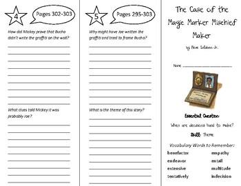 The Case of the Magic Marker Mischief Maker Trifold - Wonders 6th Grade U 4 Wk 3