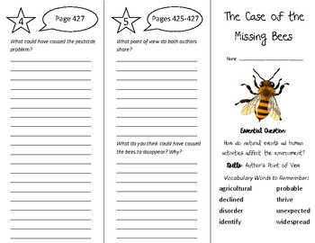 The Case of the Missing Bees Trifold - Wonders 5th Grade Unit 5 Week 5