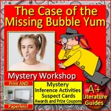 The Case of the Missing Bubble Yum Reading Mystery Unit Ready to Solve Workshop