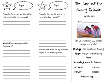 The Case of the Missing Capsule Trifold - 4th Grade Literacy by Design Theme 16