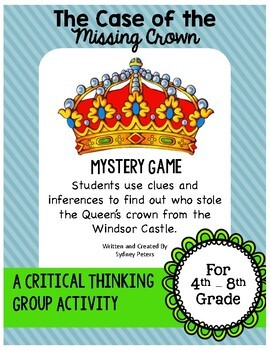 The Case of the Missing Crown - A Mystery Game -Critical T