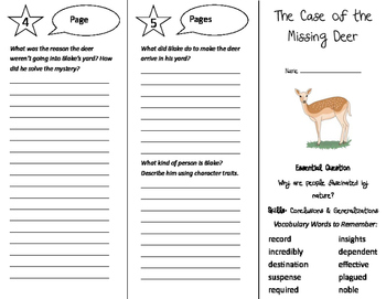 The Case of the Missing Deer Trifold - Journeys 5th Grade Unit 6 Week 4 (2011)