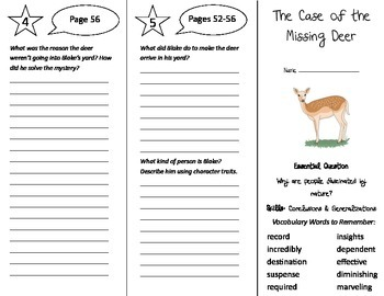 The Case of the Missing Deer Trifold - Journeys 5th Gr Uni