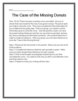 The Case of the Missing Donuts : An Inference Activity