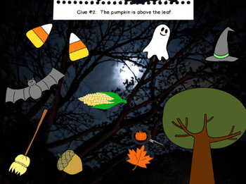 The Case of the Missing Pumpkin - Positional Words on the Activboard