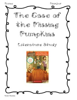 The Case of the Missing Pumpkins: Calendar Club Book Study