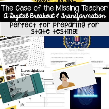 The Case of the Missing Teacher (Digital Breakout Game and Mini Transformation)