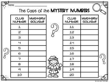 The Case of the Mystery Numbers (1-30)