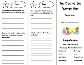 The Case of the Phantom Poet Trifold - Treasures 6th Grade Unit 3 Week 5