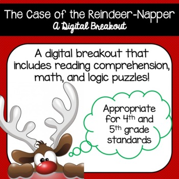 The Case of the Reindeer-Napper (Holiday Themed Digital Breakout)