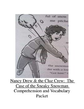The Case of the Sneaky Snowman Comprehension and Vocabulary Packet