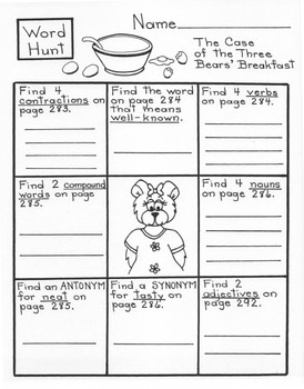 The Case of the Three Bears' Breakfast  3rd Grade Harcourt Storytown Lesson 10