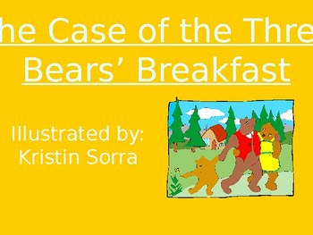The Case of the Three Bears' Breakfast - Vocabulary