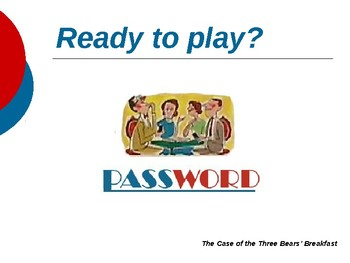 The Case of the Three Bears' Breakfast - Vocabulary Password