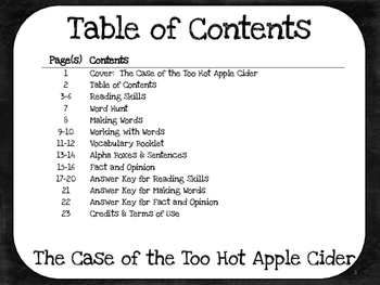The Case of the Too-Hot Apple Cider 4th Grade Harcourt Storytown Lesson 20