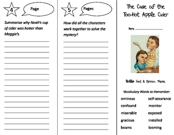 The Case of the Too Hot Apple Cider Trifold - Storytown 4th Grade Unit 4 Week 5