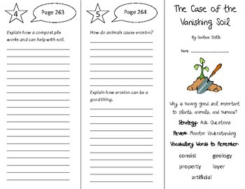 The Case of the Vanishing Soil Trifold - 4th Grade Literacy by Design Theme 8