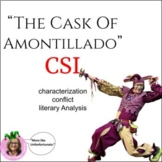 The Cask Of Amontillado: CSI Classroom Investigation and Murder Board