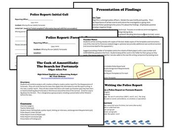 The Cask of Amontillado Activities Bundle (Edgar Allan Poe) PDF