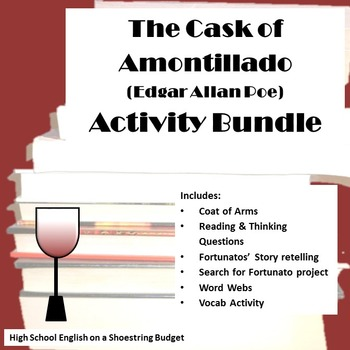 The Cask of Amontillado Activities Bundle (Edgar Allan Poe) WORD