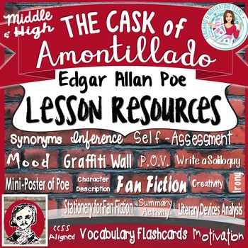 The Cask of Amontillado by Edgar Allan Poe - Lessons for Middle & High School