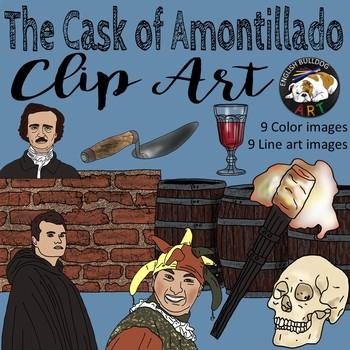 The Cask of Amontillado Edgar Allan Poe Clip Art