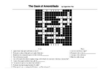 The Cask of Amontillado Crossword Review