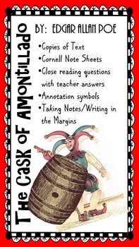 Cask of Amontillado - AVID - Close Reading - Cornell Notes