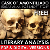 Cask of Amontillado, Edgar Allan Poe, FREE 2-day lit. analysis lesson, CCSS