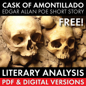 Cask of Amontillado, Edgar Allan Poe, FREE, Literary Analysis Lesson, CCSS