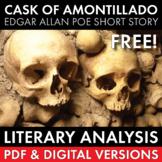 Cask of Amontillado, Edgar Allan Poe, FREE, Literary Analysis Lesson, CCSS