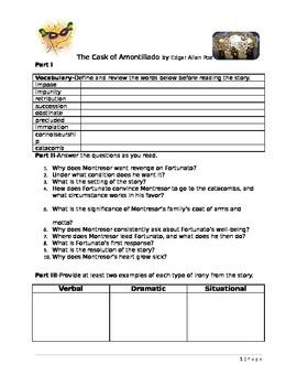 The Cask of Amontillado Interactive Reading Guide