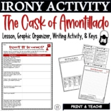 The Cask of Amontillado Irony Activity Graphic Organizer w