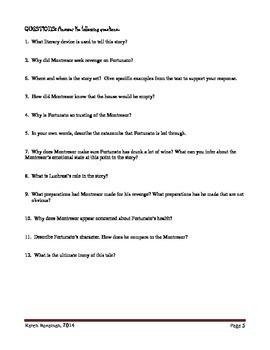 The Cask of Amontillado Lesson Plan
