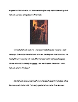The Cask of Amontillado Modified Reading and comprehension questions