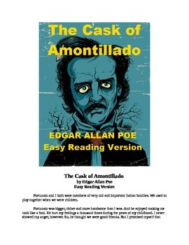 The Cask of Amontillado Mp3 and Easy Reading Text