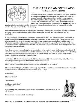 The Cask of Amontillado- Reading Comprehension .docx