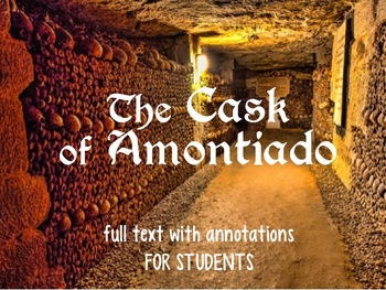 The Cask of Amontillado - STUDENT COPY with vocabulary and Qs