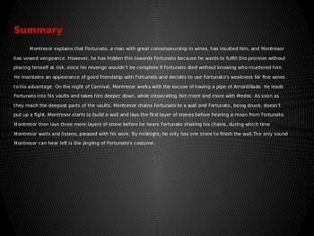 Edgar Allen Poe The Cask of Amontillado Text Analysis