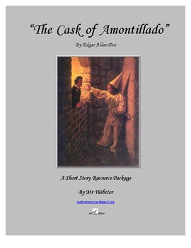 """The Cask of Amontillado"" by Edgar Allan Poe - A 85-Paged Short Story Package"