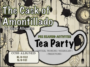 """The Cask of Amontillado"" by Edgar Allan Poe Pre-Reading Activities - Engaging"