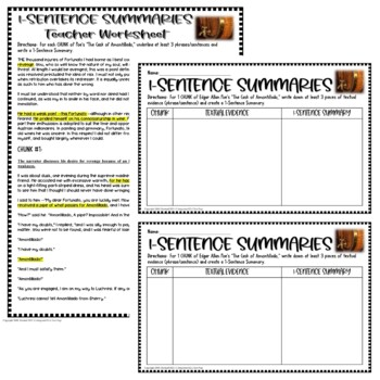 The Cask of Amontillado by Poe: Common Core Reading Test Prep Lesson Pack