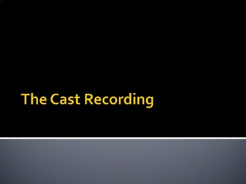 The Cast Recording
