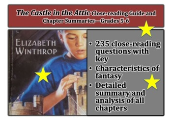 The Castle in the Attic Close-Reading Guide and Chapter Summaries—Grades 5-6