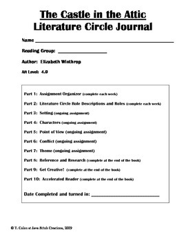 The Castle in the Attic Literature Circle Journal Student Packet