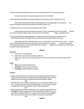 The Castle in the Attic Study Materials (ANSWERS)