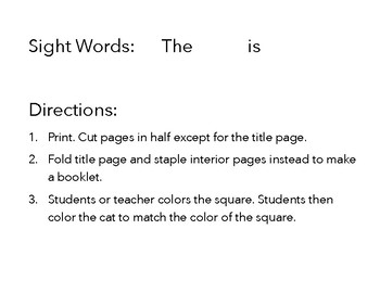 Sight Word Booklet (ESE)