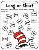 The Cat in the Hat Dr. Seuss Vowels Dr Sesus Activities Dr