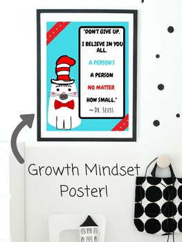 The Cat in the Hat Growth Mindset POSTER Classroom Decor Dr. Seuss